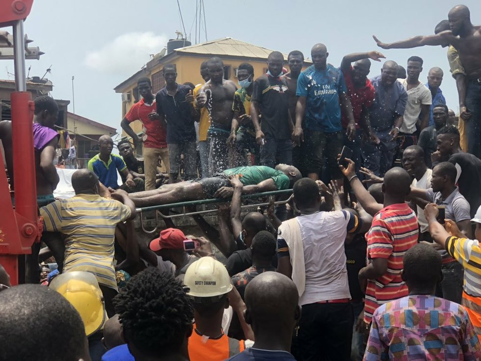 35 Ita-Faji Lagos building collapse 1