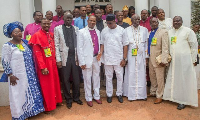 Ogun State chapter of the Christian Association of Nigeria rejoicing with Abiodun.jpg