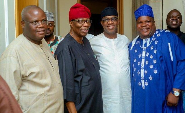 Senator Gbenga Obadara, former Ogun State Governor - Otunba Gbenga Daniel, the Eselu of Iselu - HRH Oba Akintunde Akinyemi and Hon Babatunde Olaotan - HBO.jpg