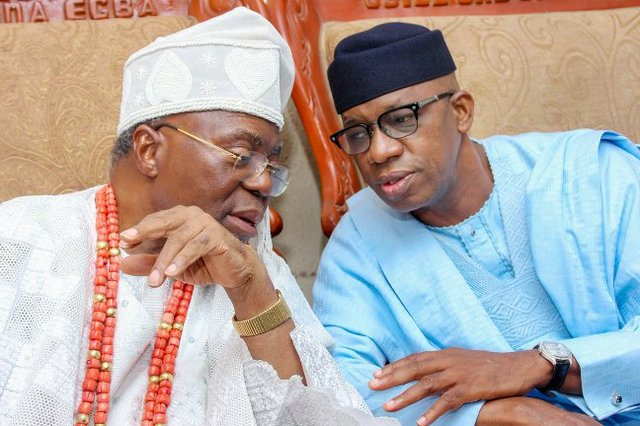 The Governor-elect  paid a 'Thank You' visit to the Osile of Oke Ona Egba - HRH Oba Dr Adedapo Tejuoso.jpg