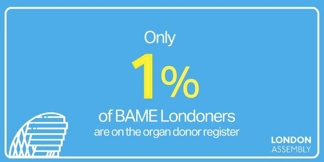 Only 1% of BAME Londoners are on the Organ Donation Register