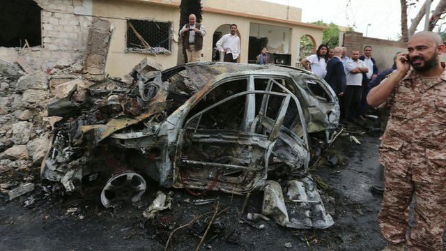 Car bomb explosion at French Embassy in Libya