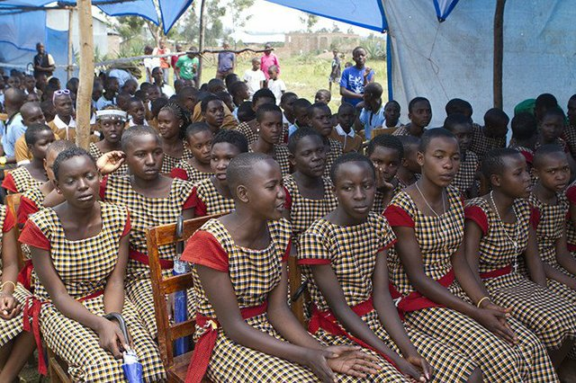 Girls in Tanzania's Mara region participate in an alternative rites of passage camp at the UNFPA-supported Masanga Centre