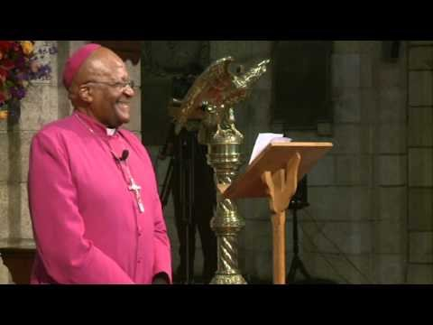 Desmond Tutu celebrates Templeton Prize win