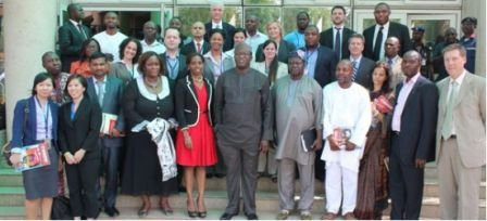 Fayemi with IBM CSC team