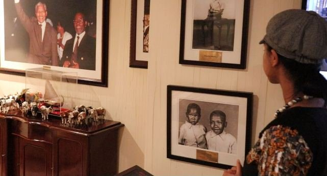 In Nelson Mandela's last office Post-Presidency