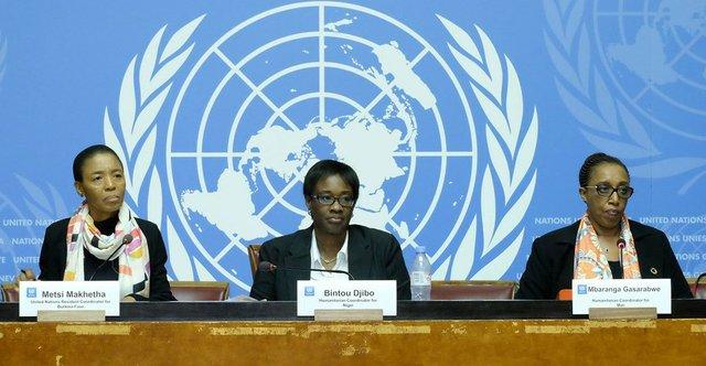 UN Resident Coordinator for Burkina Faso; Bintou Djibo, Humanitarian Coordinator for Niger; and Mbaranga Gasarabwe, Humanitarian Coordinator for Mali