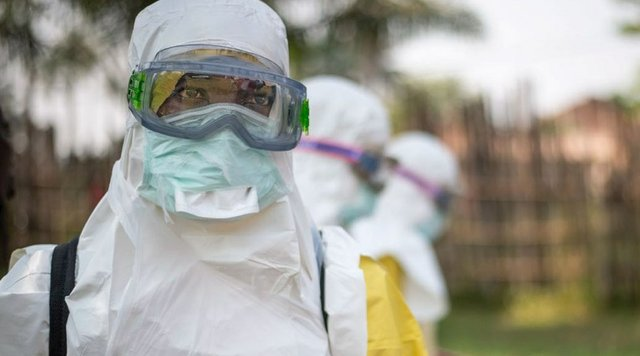 Clinic in Mbandaka, DRC, where health care workers treat Ebola patients