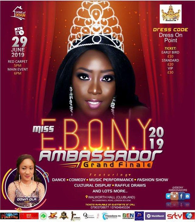 Miss E.B.O.N.Y Ambassador Grand Finale 2019