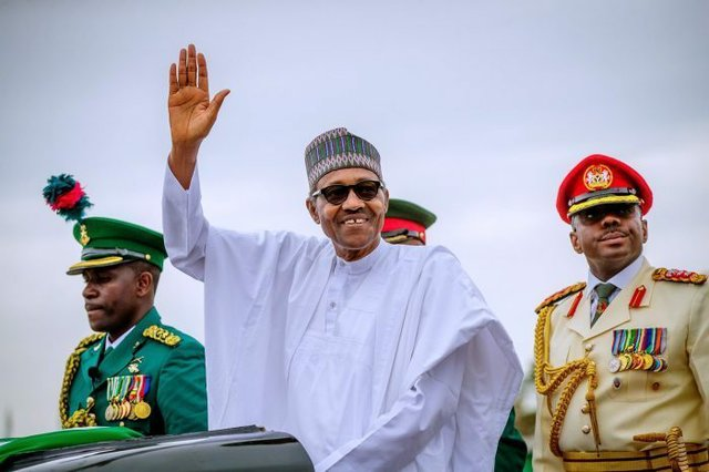 Buhari at his 2nd Inauguration as President of Nigeria