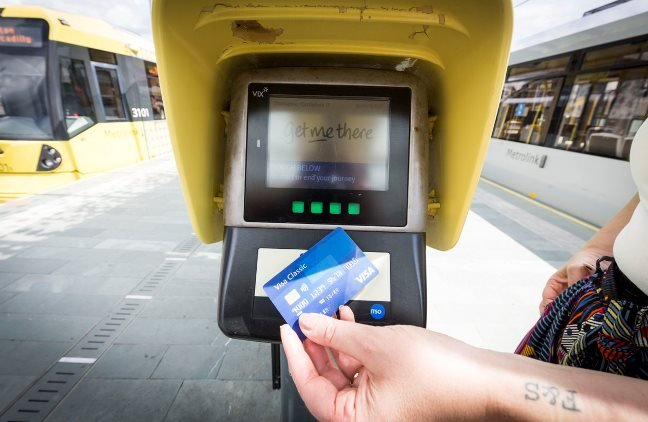 Contactless on Manchester Metrorail