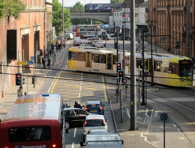 Manchester Bus Train Tram