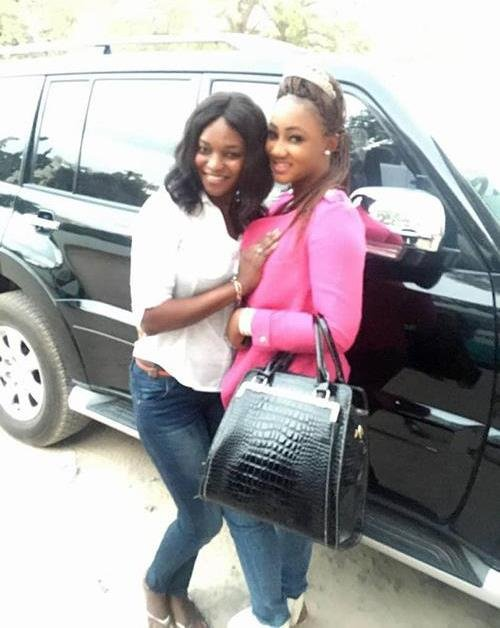 """Fatou """"Toufah"""" Jallow (right), with Jimbee Jammeh, the cousin of Yahya Jammeh. Jimbee helped Yahya lure in young women"""