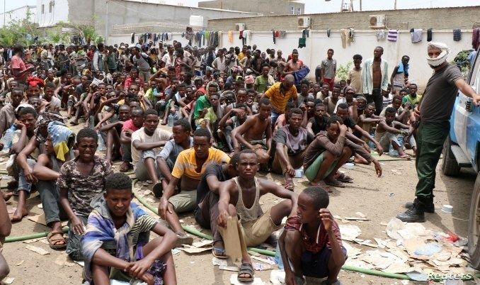 Stranded Ethiopian migrants in Yemen