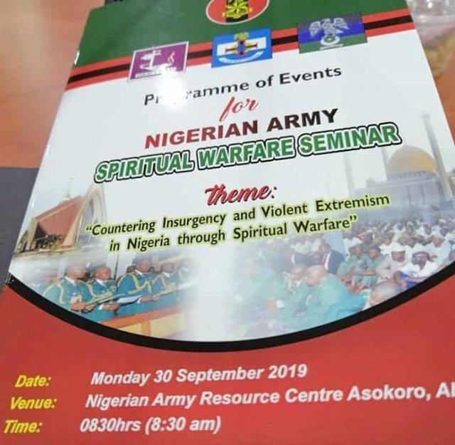 Nigerian Army Spiritual Warfare Seminar