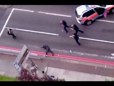 Video footage of Police shooting Michael Adebolajo and Michael Adebowale