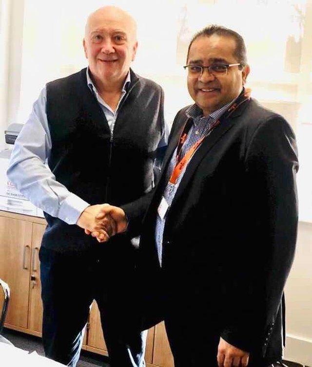 Nick Wells - CEO of Whistl and Atul Bhakta - CEO of One World Express Group