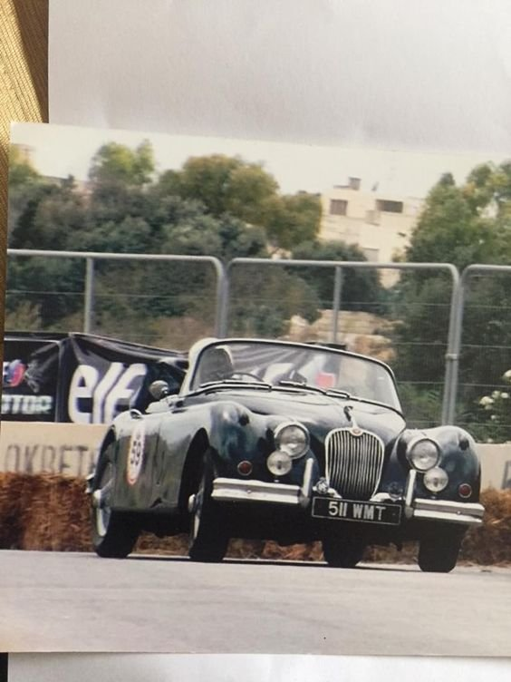 Dr Titus Odedun in his 1958 Jaguar XK 150 DHC auto (one of only 67 produced) at the Medina Grand Prix