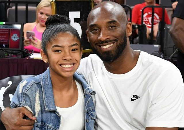 Kobe Bryant and his daughter