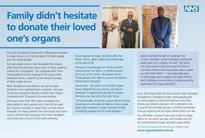 Organ Donation - Pass it On