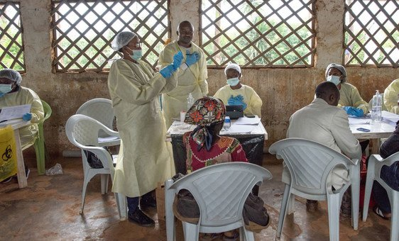 A World Health Organization (WHO) Ebola vaccination team works in Butembo in the Democratic Republic of the Congo