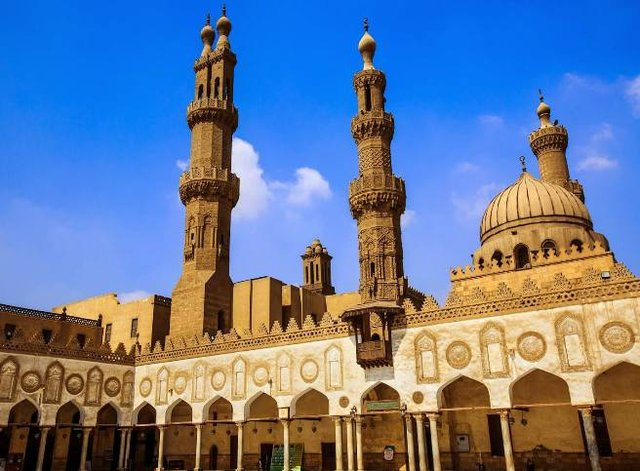The usually busy Al-Azhar Mosque in Cairo was empty