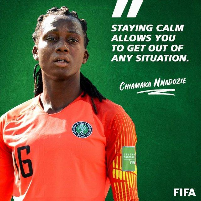 Chiamaka Nnadozie - Staying calm