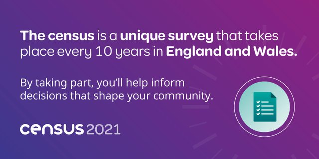 The Census is a unique survey that takes place every 10 years