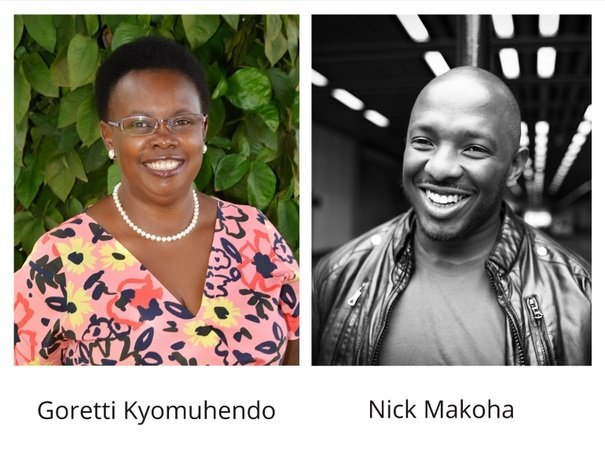 AKO Caine Prize Judges - Goretti Kyomuhendo and Nicholas Makoha