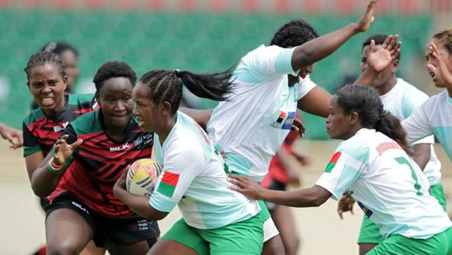 Kenya Lionesses and Lady Makis in action