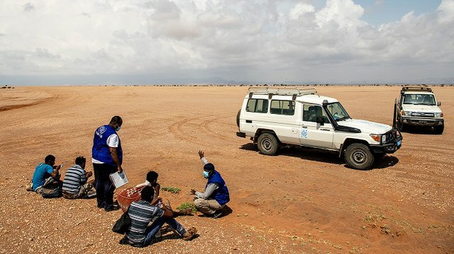 Through its mobile unit, IOM provides life-saving assistance to migrants stranded along the shores of the Obock region in Djibouti