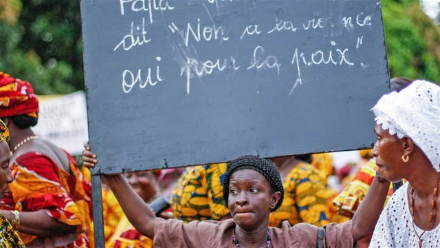 A political rally in Guinea's capital Conakry.