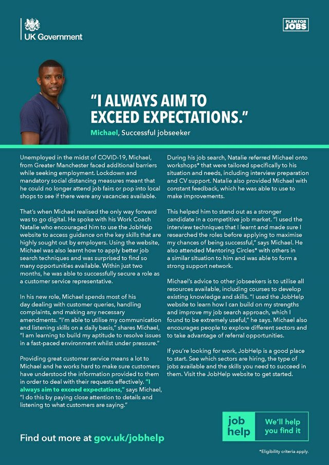 """""""I always aim to exceed expectations"""""""