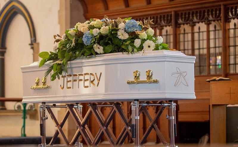 Jeffrey Wegbe coffin