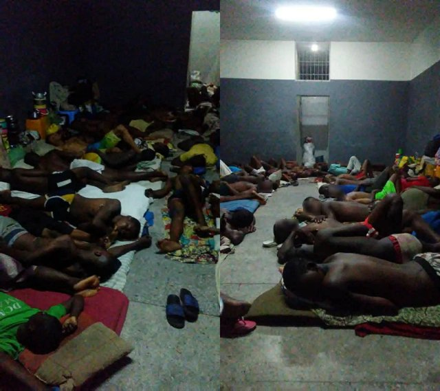 Congested prisons in DR Congo (March 2020)
