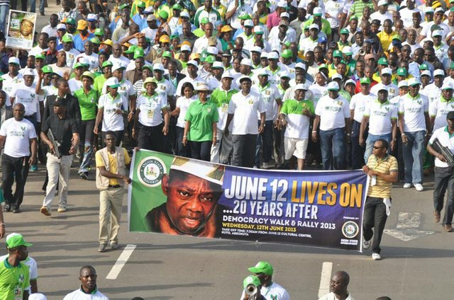June 12 walk in Abeokuta