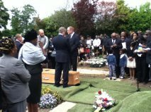 A father's moving tribute at his daughter's graveside