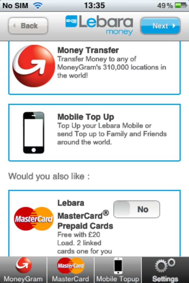 Lebara Money MoneyGram app