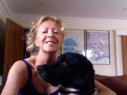 Lynn Michell and her dog - Homer