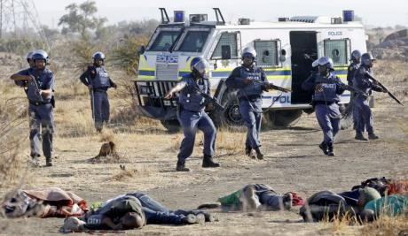 The Marikana mine workers massacre