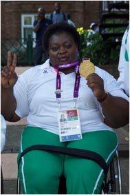 Grace Anozie, a gold medallist in the women s powerlifting +82kg category.jpg