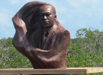 Dr King's bust in Bimini