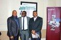 Dr Ken Smart Otukoya flanked by friends.JPG