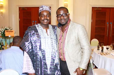 Femi Okutubo and Comedian of the United Nations, MC Mark.JPG