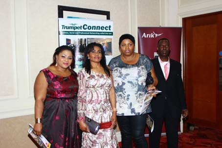 Guests including Wotever Cakes Seyi Olumayowa (left) and Arik Air s Alex Afari.JPG