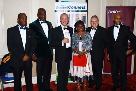 The MetLife crew rejoicing with GAB Award recipient Babatunde Loye (2nd left).JPG