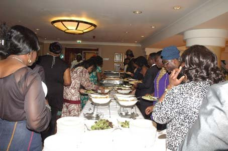 There was a variety of African and Caribbean themed dishes from Hilton.JPG
