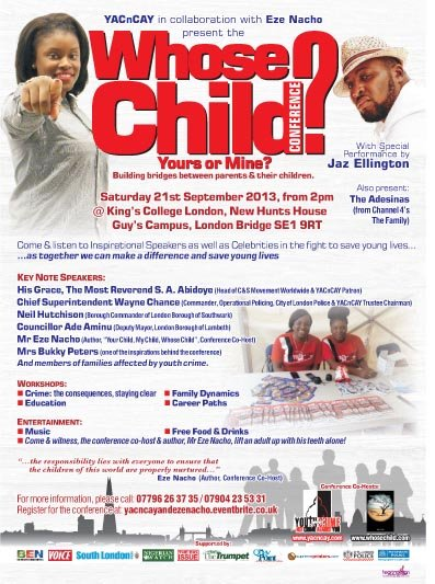 Whose Child A5 Advert web 3