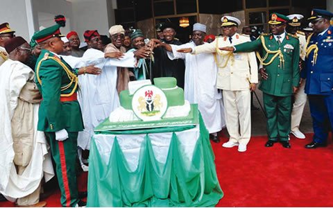 Cutting the Nigeria at 53 cake