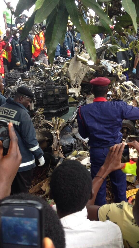 Emergency Services responding to Lagos Plane Crash - October 3 2013
